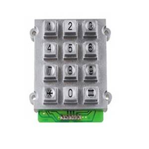 3×4 12 keys zinc alloy waterproof digital keypad B515