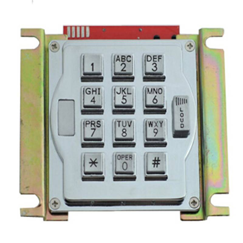 13keys waterproof metal keypad with volume control button for entry system B517 Featured Image