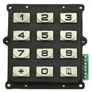 Anti vandalism zinc alloy 12keys keypad for Inmate Jail Telephone-B519