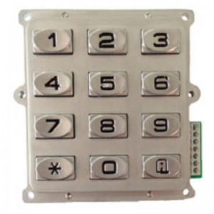 3×4 12 keys matrix atm smart keypad-B519