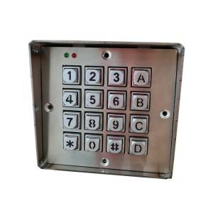 Industrial waterproof metal led backlit illuminated keypads with 16 keys Metal Keyboard-B660