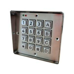 USB Wired 4×4 keys door access control metal numeric backlight keypad -B660