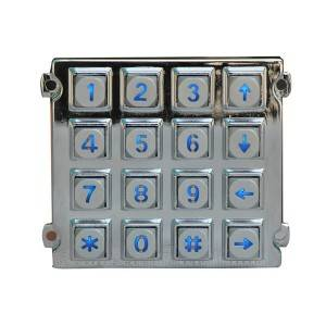 4×4 matrix design keypad zinc alloy metal keypad B660