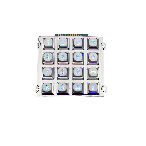 ATM 16 keys numeric keypad IP65 waterproof illuminated metal keypad-B660 Featured Image