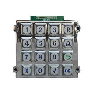 IP65 waterproof industrial keypad, zinc alloy metal keypad B660