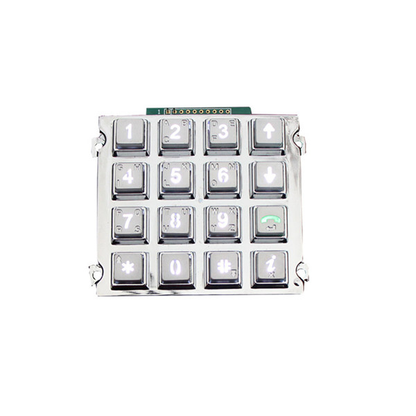 16 keys backlight zinc alloy keypad/Emergency Intercom System keypad -B660 Featured Image