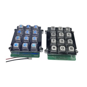 Zinc alloy industrial phone keypad with green LED for kiosk phone-B661