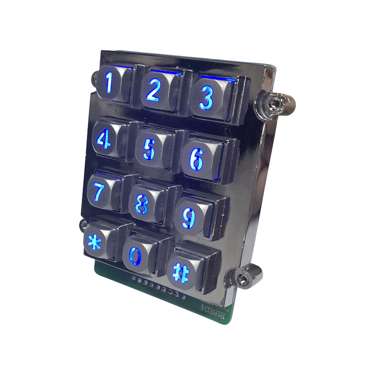 Zinc Alloy Backlit Numeric Keypad Aging Resistant With Metal Frame-B661 Featured Image