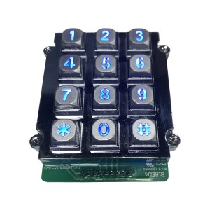 Zinc Alloy Backlit Numeric Keypad Aging Resistant With Metal Frame-B661