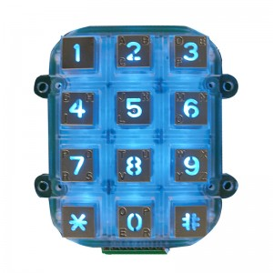 Access control system waterproof keypad /USB illuminated 3×4 keypad- B662