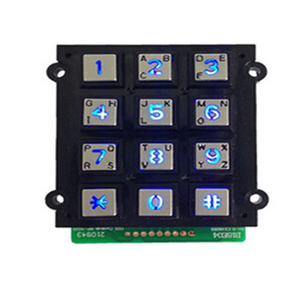 IP65 anti-vandal waterproof outdoor 12 keys numeric industrial custom keypad for access security-B662 Featured Image