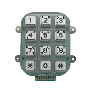 IP65 anti-vandal waterproof outdoor 12 keys numeric industrial custom keypad for access security-B662