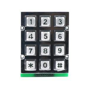 3×4 12keys rated voltage vandalproof zinc alloy backlight LED illuminated keypad B665