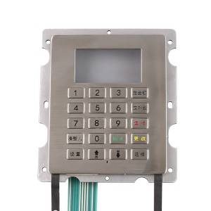4×5 matrix vandalproof stainless steel digital locker industrial metal keypad with LCD screen B701