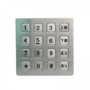 4×4 kiosk machine stainless steel metal keypad for garage entry system B723