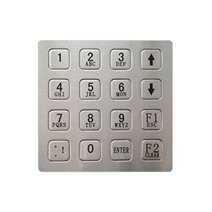 Weatherproof and Vandal Resistant Access Control Keypad Narrow Profile B723