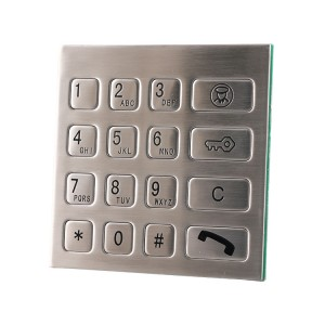 16keys Vandal Proof ATM Keypad/Keyboard B725