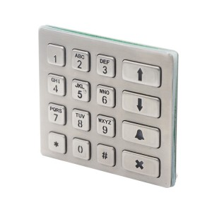 LED backlight RS485 stainless steel keypad B801