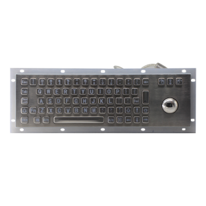 Vandal-proof stainless steel keypad with trackball for military-B807