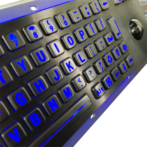 Vandal-proof stainless steel keypad with trackball for industries B807