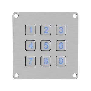 Matrix stainless steel anti-vandalism cabinet code lock illuminated keypad B861