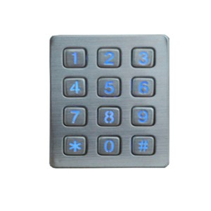 waterproof stainless steel LED ticket vending machine keypad B880