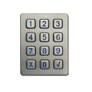 IP65 waterproof 3×4 12 buttons illuminated access control keypad B880