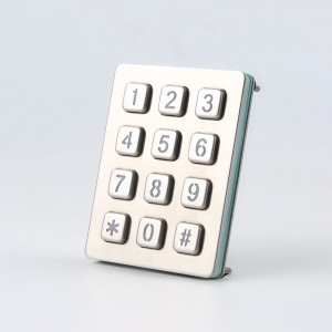 Digital door locks keypad /backlit metal rs232 keypad-B880