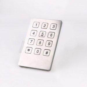 3×4 Panel mount outdoor keys metal numeric keypad-B721