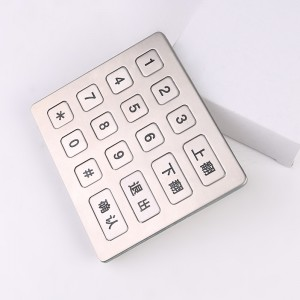 Ticket machine anti-vandalism 16 keys numeric keypad with USB B713