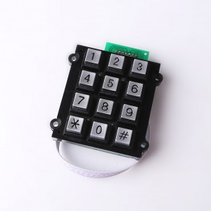 Self service metal numeric keyboard 3×4 matrix metallic keypad usb connector keypad-B501