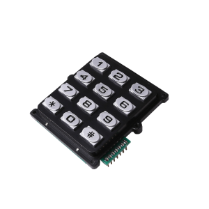 Water proof 3×4 12keys numeric Zinc alloy keypad for access control system-B519