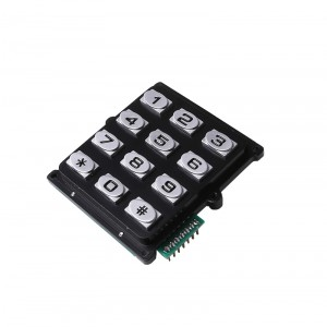 Matrix 3×4 digital 12 key access control keypad-B519