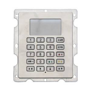 4×5 20keys stainless steel LED backlit keypad for access control system B802