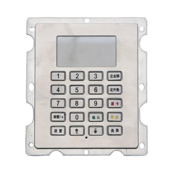 4×5 20keys stainless steel LED backlit keypad for access control system B802 Featured Image