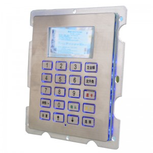 LED backlit fuel dispenser keypad with LCD screen B802