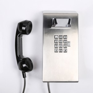 Industrial telephone Stainless steel dustproof prison telephone with handle-JWAT137