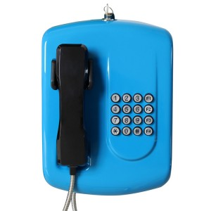 4 Speed Dial Button Blue Public Telephone