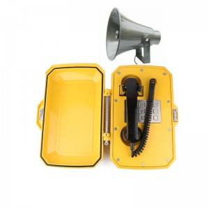 IP66 Weatherproof Telephone Heavy Duty Outdoor Emergency Tunnel Phone