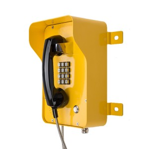 Industrial rolled steel Casting VOIP IP SIP waterproof Telephone with armored Handset-JWAT937