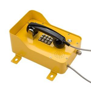 Industrial rolled steel Casting VOIP IP SIP waterproof Telephone with armored Handset JWAT937
