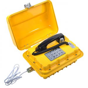 Flameproof Telephone with rugged explosion proof enclosure