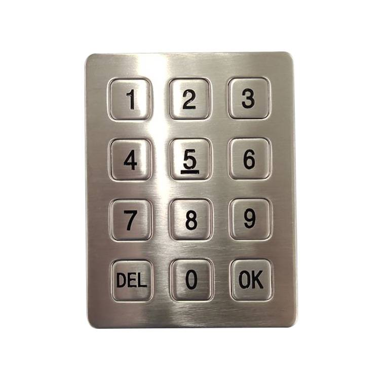 12 keys 3×4 matrix digital metal keypad for Parcel terminals Featured Image