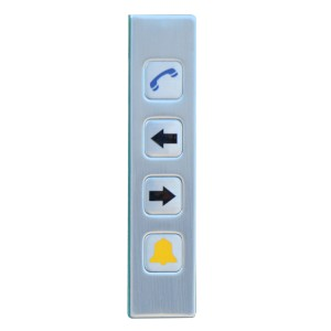 4 keys stainless steel elevator use explosion proof keypad-B726