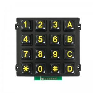 IP65 4×4 16 keys Numeric Keypad-B512
