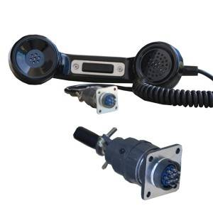Explosion proof industrial mine carbon loaded telephone handset-A15