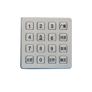 IP65 4×4 Matrix Outdoor Weatherproof  machine controller keypad-B723