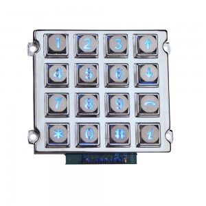 Industria LED metalo retroiluminada keypad-B660