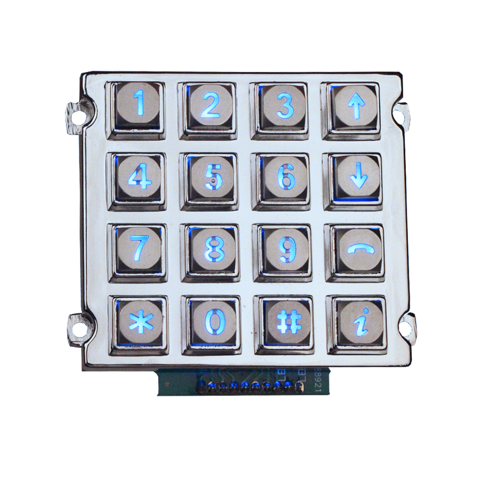 Image LED Industrial metallu Retroilluminato keypad-B660 Images