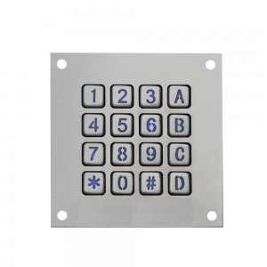 4×4 matrix LED backlit keypad-B862